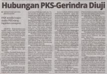 Republika, Hubungan PKS-Gerindra Diuji-18APR2018